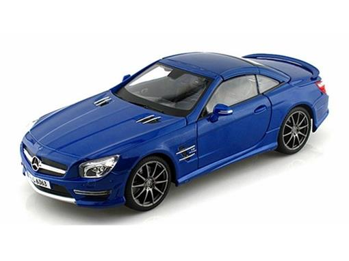Mercedes Benz: SL 63 AMG Hard Top (2012) - Azul - 1:18
