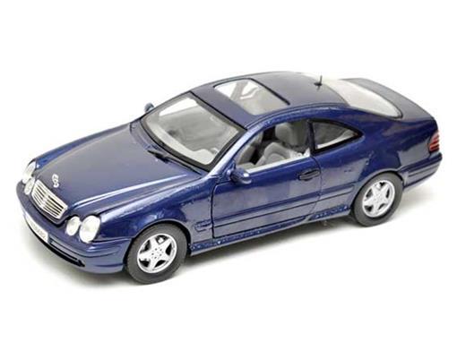 Mercedes Benz: CLK (2002) Azul - 1:18 - Motor Max