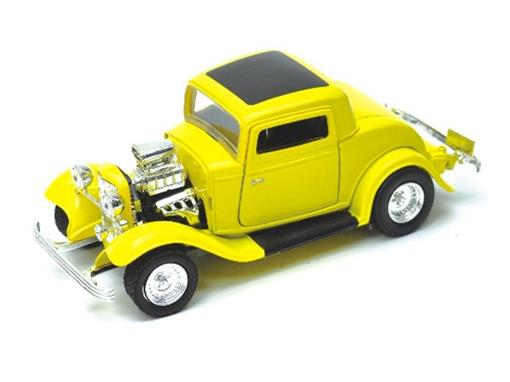 Ford: Coupe (1932)  - Amarelo - 1:24