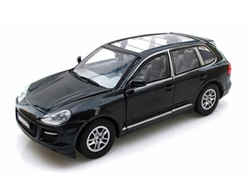 Porsche: Cayenne Turbo (2008) - Preta - 1:24 - Motor Max