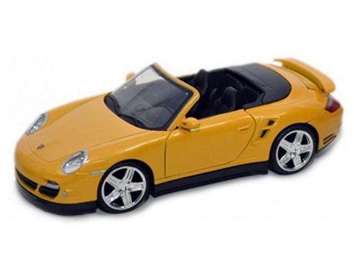 Porsche: 911 Turbo Cabriolet - Amarelo - 1:24