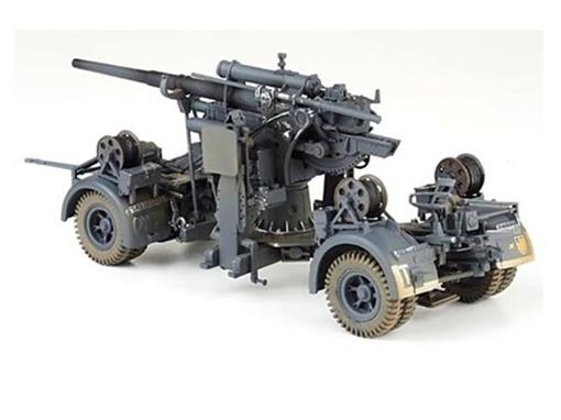 German Army: Canhão 88MM Flak Gun - (Stalingrad, 1942) - 1:32