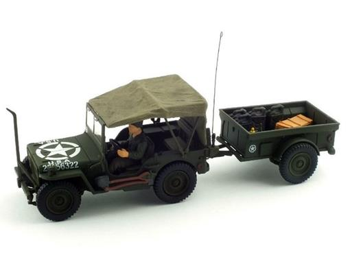 US Army: Jeep General Purpose Vehicle c/ Carreta - 1:32