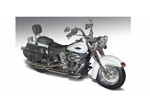 Harley Davidson: FLSTC Heritage Softail (2012) - Branca - 1:12