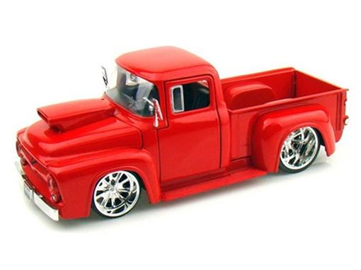 Ford: F-100 (1956) - Vermelha - 1:24