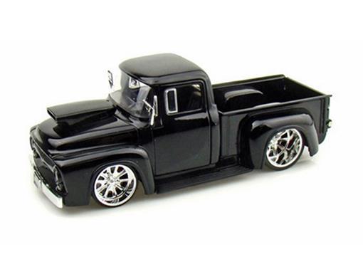 Ford: F-100 (1956) Pickup - Preta - 1:24