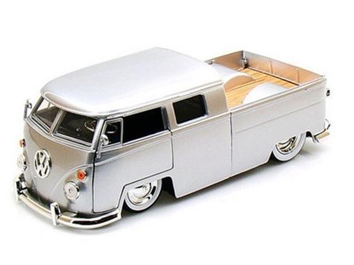 Volkswagen: Bus Pickup / Kombi (1963) - Prata- Bigtime K. - 1:24