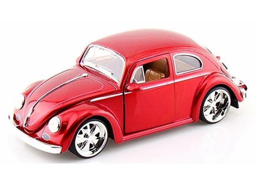 Volkswagen: Fusca / Beetle (1959) - Vermelho - 1:24