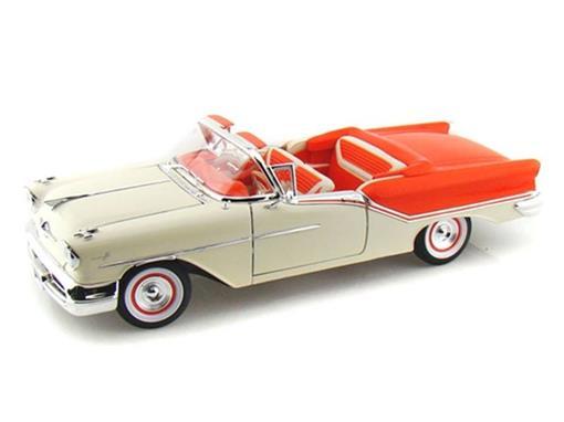 Oldsmobile: Super 88 (1957) - Creme/Laranja - 1:18