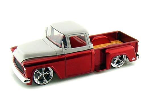 Chevrolet: Stepside (1955) - Vermelho/Branco - 1:24