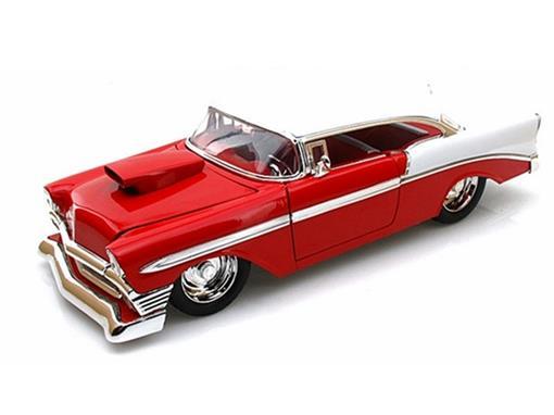 Chevrolet: Bel Air (1956) - Vermelho/Branco - 1:18