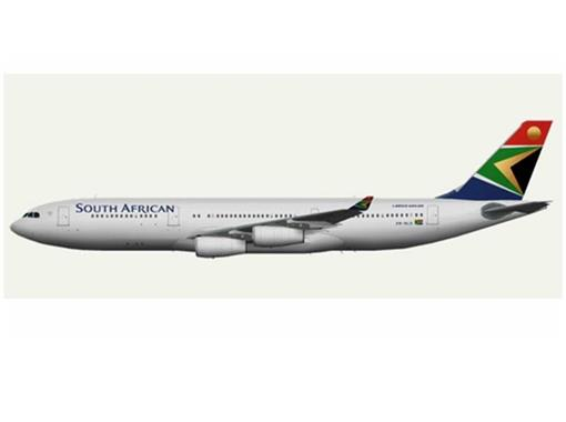 South African Airways: Airbus A340-200 - 1:500