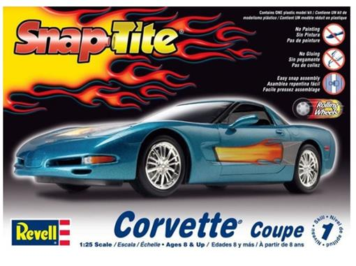 Chevrolet: Corvette Coupe - Kit P/Montar - 1:25