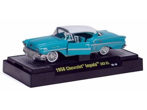 Chevrolet: Impala 283 (1958) - Azul - Auto Thentics - 1:64