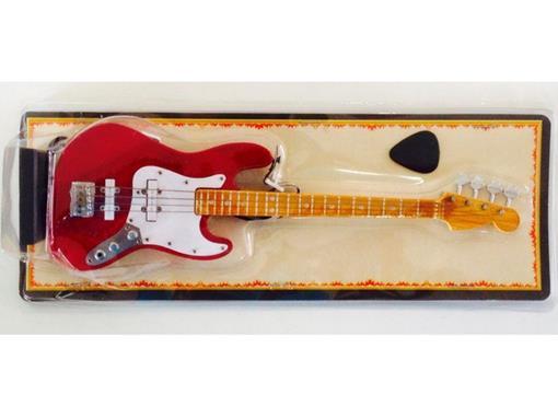 Miniatura Baixo Elétrico Jass Bass - Vermelho (Blister) - 1:4