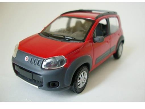 Fiat: Uno Way - Vermelho - 1:43