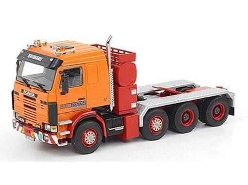 Scania: R143 8x4 - Bautrans - Laranja/Vermelha - Cavalo - 1:50