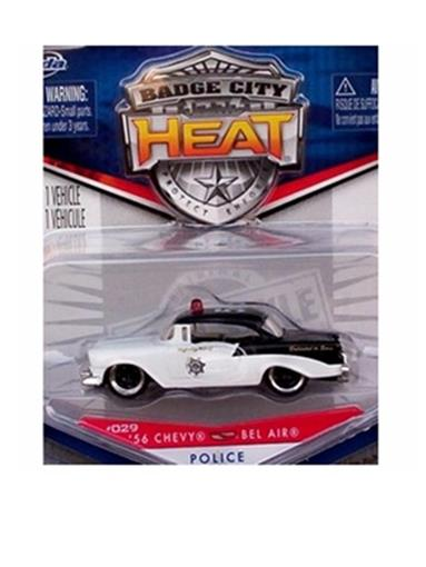Chevrolet: Bel Air Policia - Heat Wave 3 - (1956) Branca - 1:64