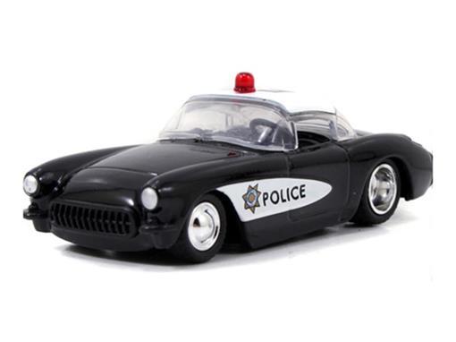 Chevrolet: Corvette Policia - Heat Wave 3 (1957) Preto - 1:64