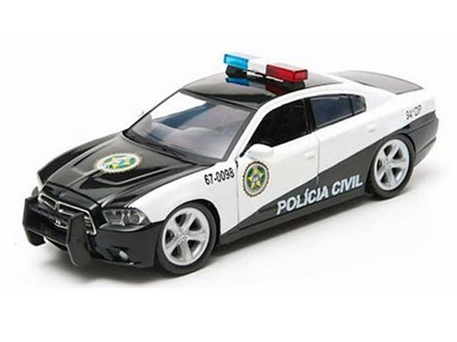 Dodge: Charger Rio Police (2011) Fast & Furious - Hollywood - Series 4 - 1:64 - Greenlight