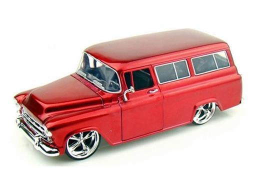 Chevrolet: Suburban (1957) - Vermelho - 1:24