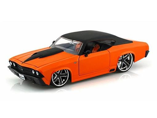 Chevrolet: Chevelle SS (1969) - Laranja - Bigtime Muscle - 1:24