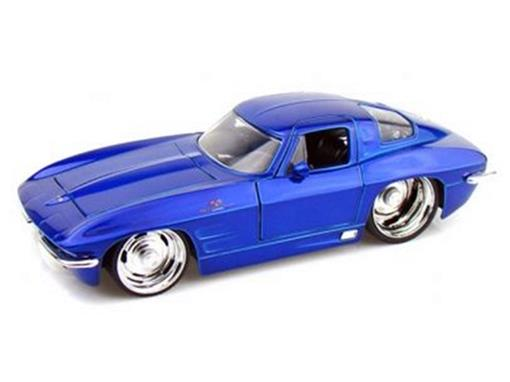 Chevrolet: Corvette Sting Ray (1963) - Azul - 1:24