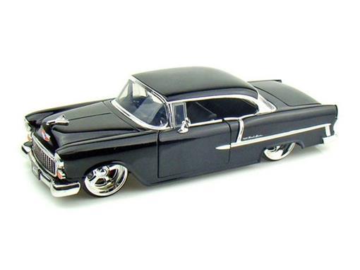 Chevrolet: Bel Air (1955) - Preta - 1:24