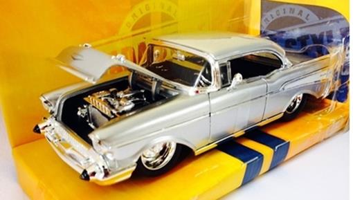 Chevrolet: Bel Air (1957) - Prata - Bigtime Muscle - 1:24