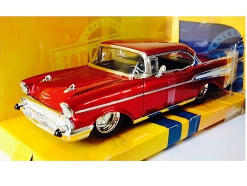 Chevrolet: Bel Air (1957) - Vermelha - Bigtime Muscle - 1:24 - Jada