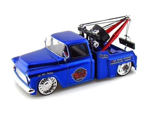 Chevrolet: Stepside Tow Truck (1955) - Azul - 1:24