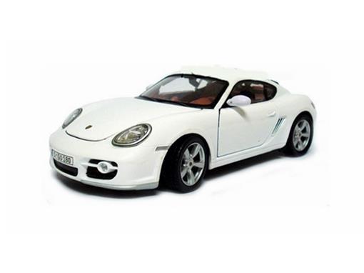 Porsche: Cayman S - Branco - 1:24