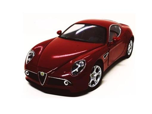 Alfa Romeo: 8C - Vermelho - 1:24