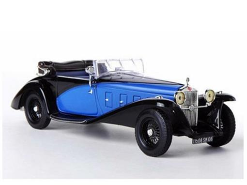 Delage: D8SS Fernandez & Dartin (1932) - Azul / Preto - 1:43