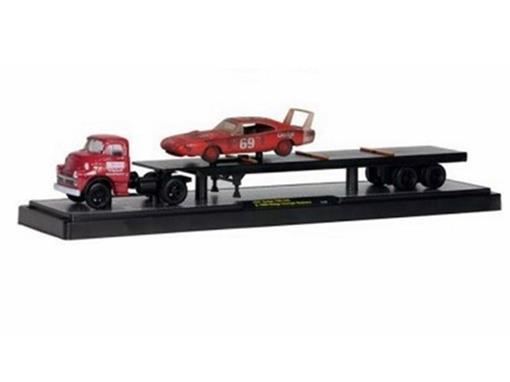 Dodge: 700 COE (1957) & Charger Daytona (1969) - Haulers - 1:64