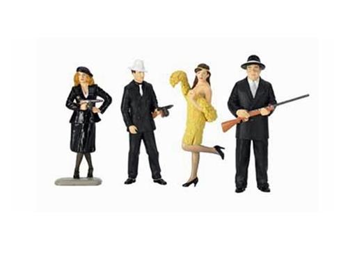 Figuras de Gangsters c/4 - 1:24