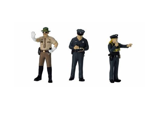 Figuras de Policiais c/3 - 1:24