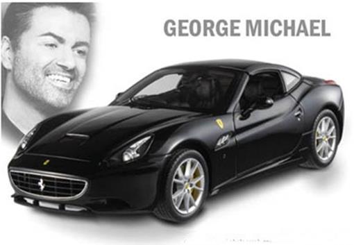 Ferrari: California - George Michael - Preta -  1:18
