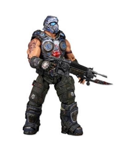 Boneco Clayton Carmine - Gears of War 3