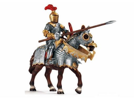 Boneco Cavaleiro Montado com Lança