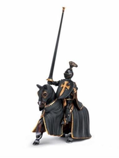 Boneco Cavaleiro Negro com Lança