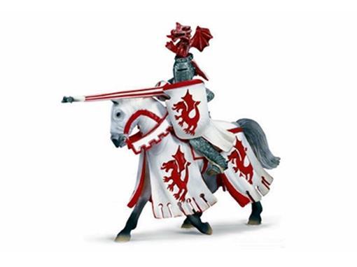 Boneco Cavaleiro de Torneio com Lança - Branco