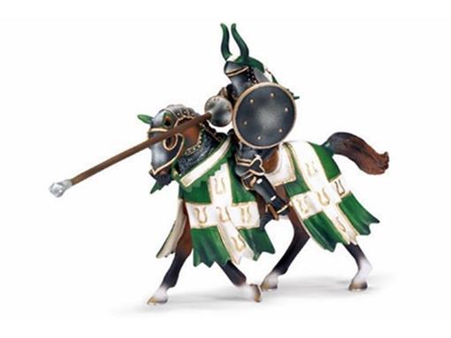 Boneco Cavaleiro de Torneio com Lança - Verde