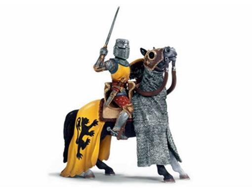 Boneco Cavaleiro Montado com Espada