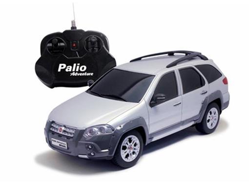 Fiat: Palio Adventure - Prata - Controle Remoto - 1:18