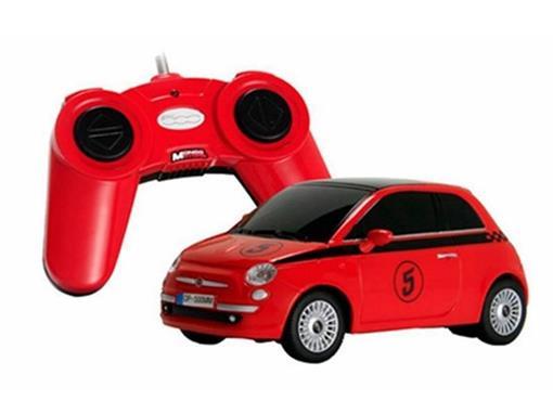 Fiat: 500 - Vermelho - Controle Remoto - 1:24