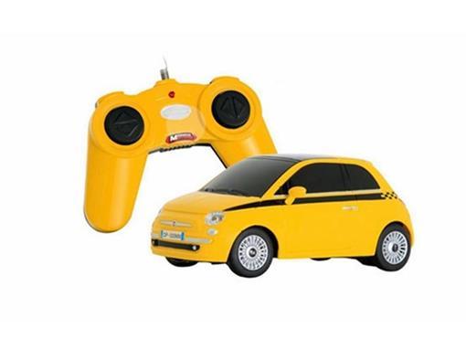Fiat: 500 - Amarelo - Controle Remoto - 1:24