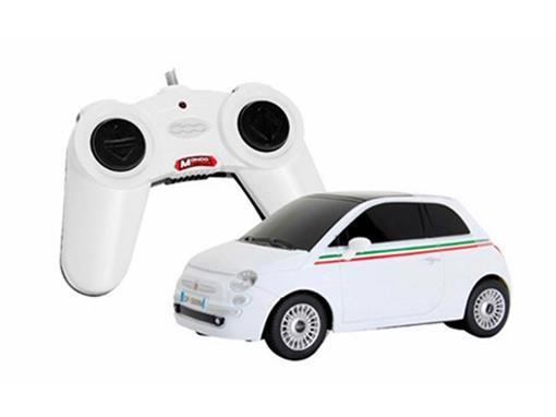 Fiat: 500 - Branco - Controle Remoto - 1:24