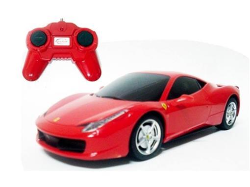 Ferrari: 458 Italia - Vermelha - Controle Remoto - 1:24