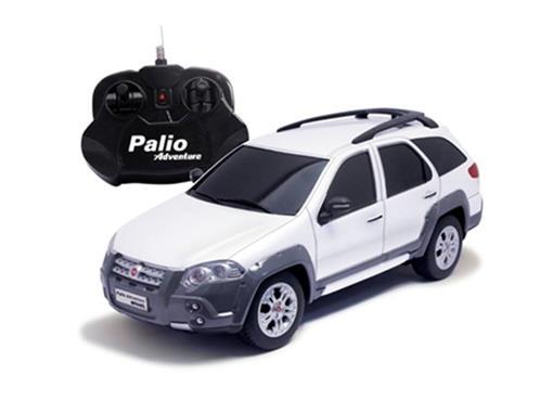 Fiat: Palio Adventure - Branca - Controle Remoto - 1:18